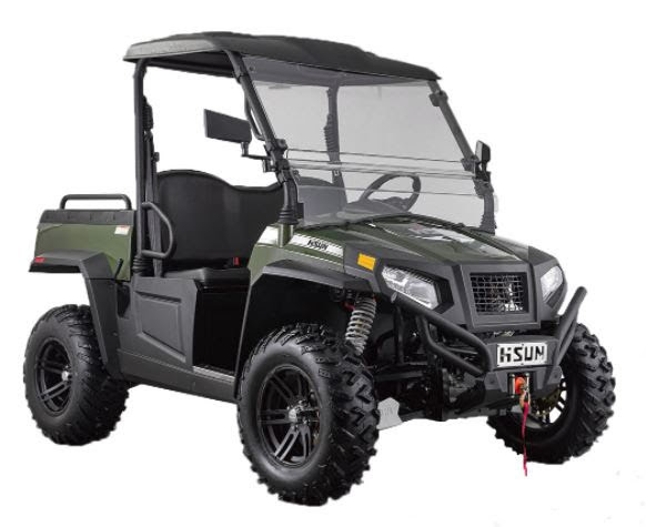 Electric 4x4 E1 Sector Hisun Farm Utility Vehicle UTV Crossfire Side By Side SSV - Green