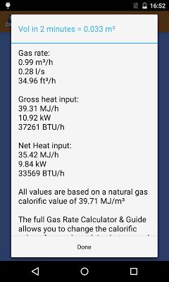 Gas Rate Calculator Lite - screenshot