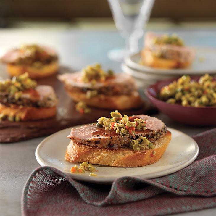 Pork and Olive Bruschetta Recipe