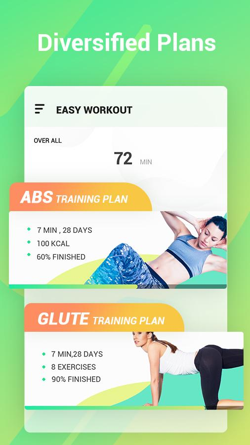 Easy Workout - Abs & Butt Fitness,HIIT Exercises Screenshot 1