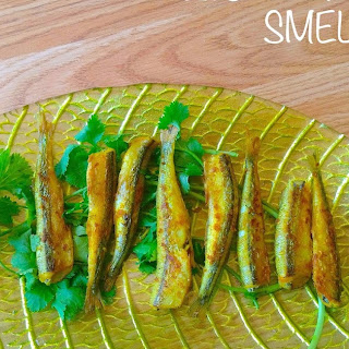 CRISP PAN FRIED SMELT (low fat, high protein recipe)