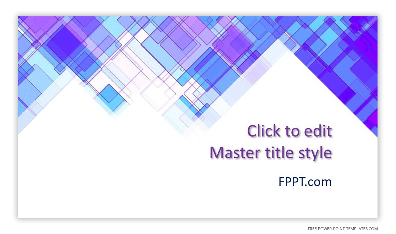 Blue iridescent colors and geometric shapes are the main theme of this introduction slide.