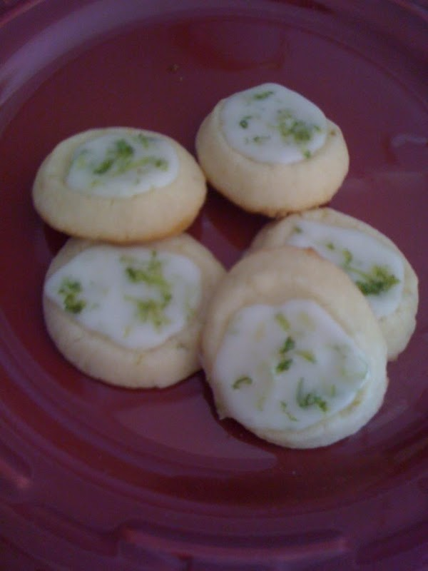 Key Lime Shortbread  Cookies Recipe