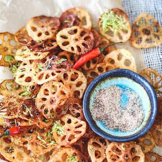 Lotus Root Chips + Spicy Salt.