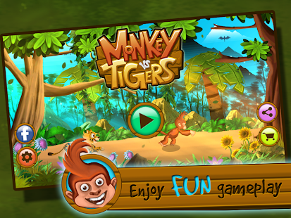 Monkey Vs Tigers- screenshot thumbnail