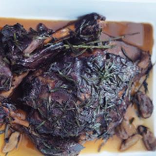 Slow-Cooked Balsamic and Garlic Lamb