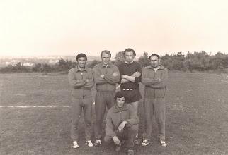 Photo: 1971 Snimljeno na Fortinu. Stoje s lijeva Kontešić Josip, Rovis Mario, Grbac Bruno, Macuka Boris; Čući: Cukon Mario