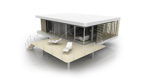 Grand module avec terrasse basse