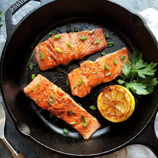 Sautéed Caramelized Salmon.