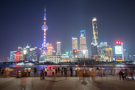 Shanghai Waitan (The Bund) Pudong evening3