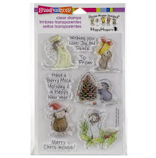 Stampendous Perfectly Clear Stamps 4X6 - Merry Mice