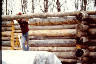 Photo: More log work, Spring 1993.