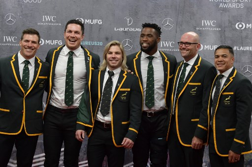 Springboks win Laureus Sports Team of the Year while Hamilton, Messi share men's title