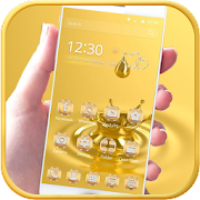 Gold Water drop Theme