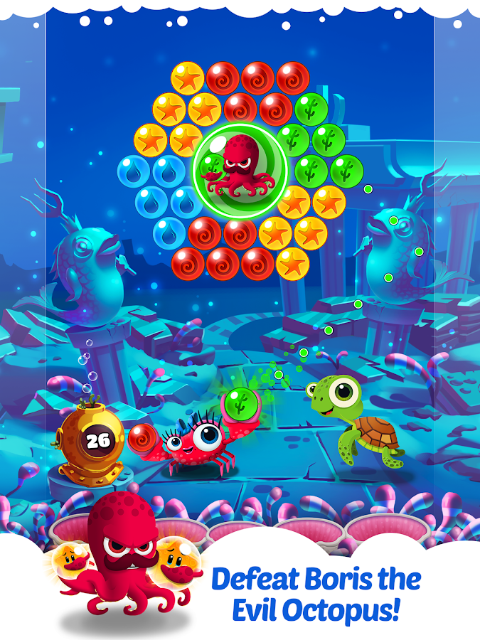 Bubble Heroes: Starfish Rescue- screenshot