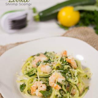 Zucchini Noodle Shrimp Scampi.