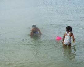 Photo: Kaleya & Jihad in the water