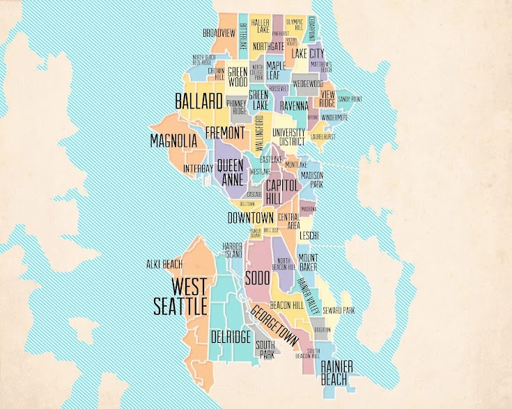 [Image is a map of Seattle neighborhoods.]