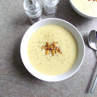 Crispy Cauliflower Cashew Soup.
