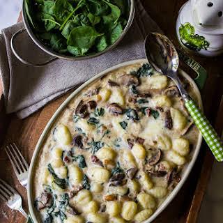 Mushroom Florentine Gnocchi.