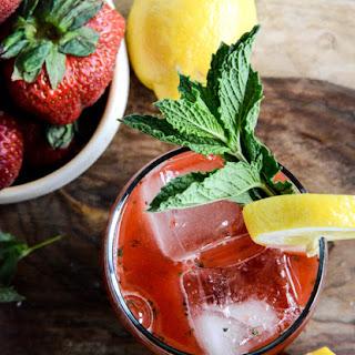 Fresh Strawberry Mint Lemonade.