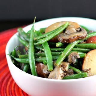 Garlic Green Beans with Mushrooms and Potatoes.
