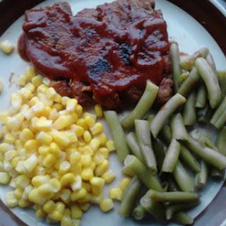 Homemade Seitan Barbecue Ribs.