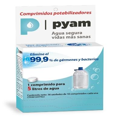potabilizador de agua pyam 5l blister 10comprimidos okey