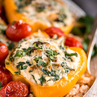 Vegetarian Spinach Ricotta Stuffed Peppers Recipe