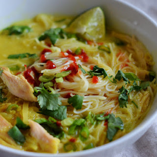 Thai Chicken & Rice Noodle Soup Recipe