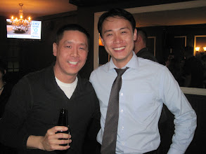Photo: NYC alumni at Tammany Hall Tavern: Andy Chen '05, Eric Hsu '99