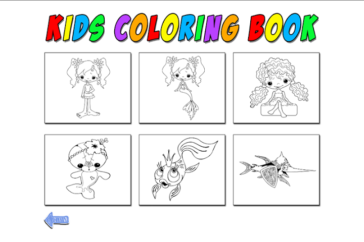 android Kids Coloring Mermaid Screenshot 2
