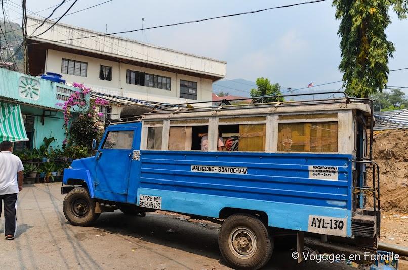 Bontoc, jeepney Maligcong