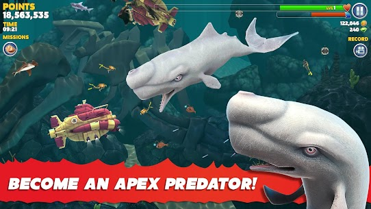 Hungry Shark Evolution Mod Apk 8.2.0 (Unlimited Money Coins + Dimond) 4