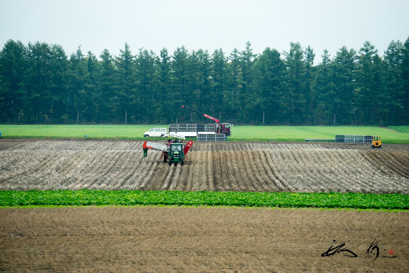 大規模機械化農業の村