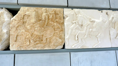 Photo: It is pieced together with a combination of the original blocks of the frieze and cast copies