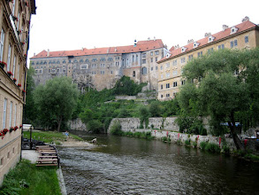 Photo: Cesky Krumlov castle above Vltava River