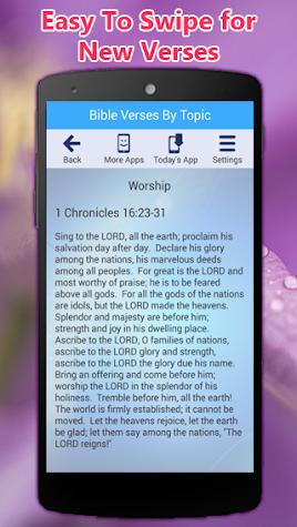 Bible Verses By Topic App & Caller ID Screen Screenshot
