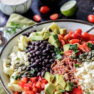 Southwest Tortellini Salad with Creamy Salsa Dressing