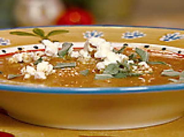 Cumin Pumpkin Soup With Popcorn & Sage Recipe