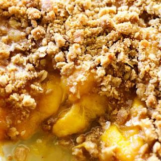 Easy Homemade Peach Crisp