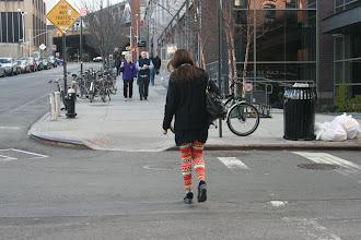 Photo: She had colorful leggings...