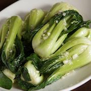 Baby Shanghai Bok Choy with Garlic