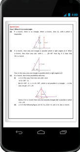 Maths Solutions of triangles Formula Book - náhled