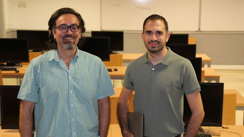 Mauricio Rodríguez López y Pedro Fernández Bosch, en la UAL