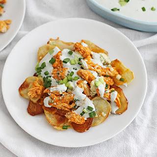 Potato Chip Buffalo Chicken Nachos.