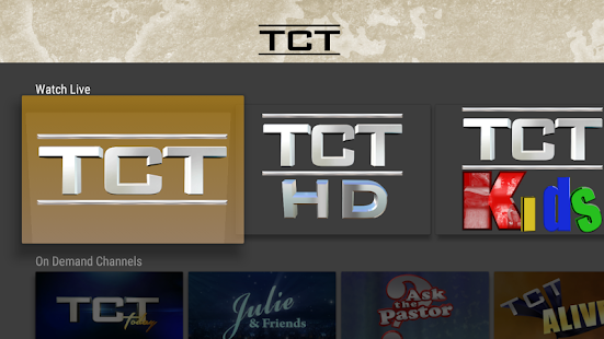 TCT - Live and On Demand TV- screenshot thumbnail