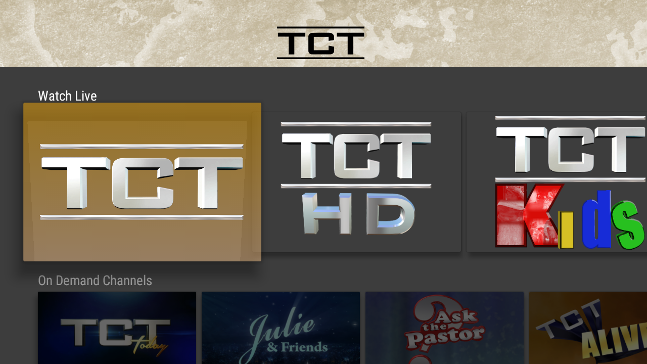 TCT - Live and On Demand TV- screenshot