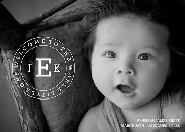 Em's Birth Announcement - New Baby Announcement Template