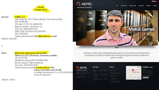 Matúš Gémeš AKMG / Ministerstvo vnútra - zmluva za 40 milińov EUR.